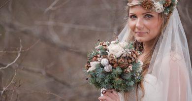 winter bruidsboeket, trouwen in de winter
